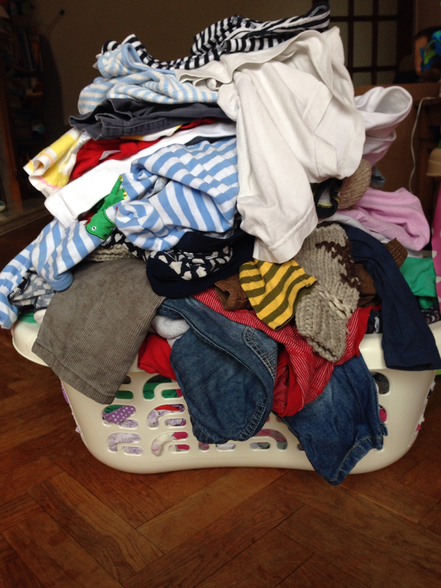 How does this big basket of ironing make you feel?