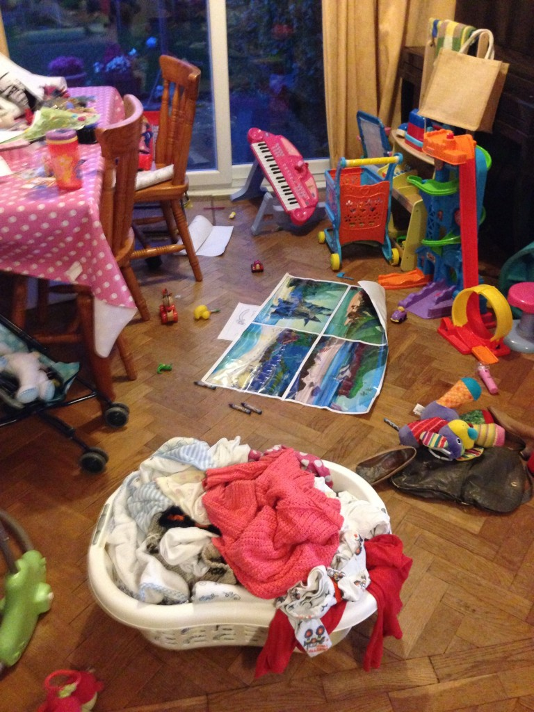 I would much rather spend time with my children, but sometimes the mess gets too much.