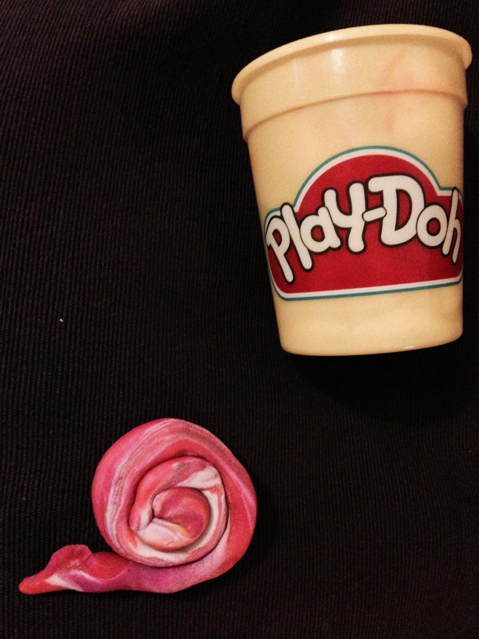 Play-Doh snail