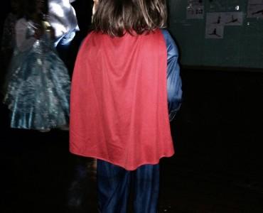 Little E at her superhero-themed school disco