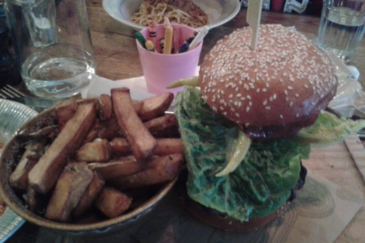Jamie's Italian burger