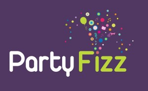Party Fizz logo [purple BG]