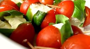 Tomato basil and feta sticks