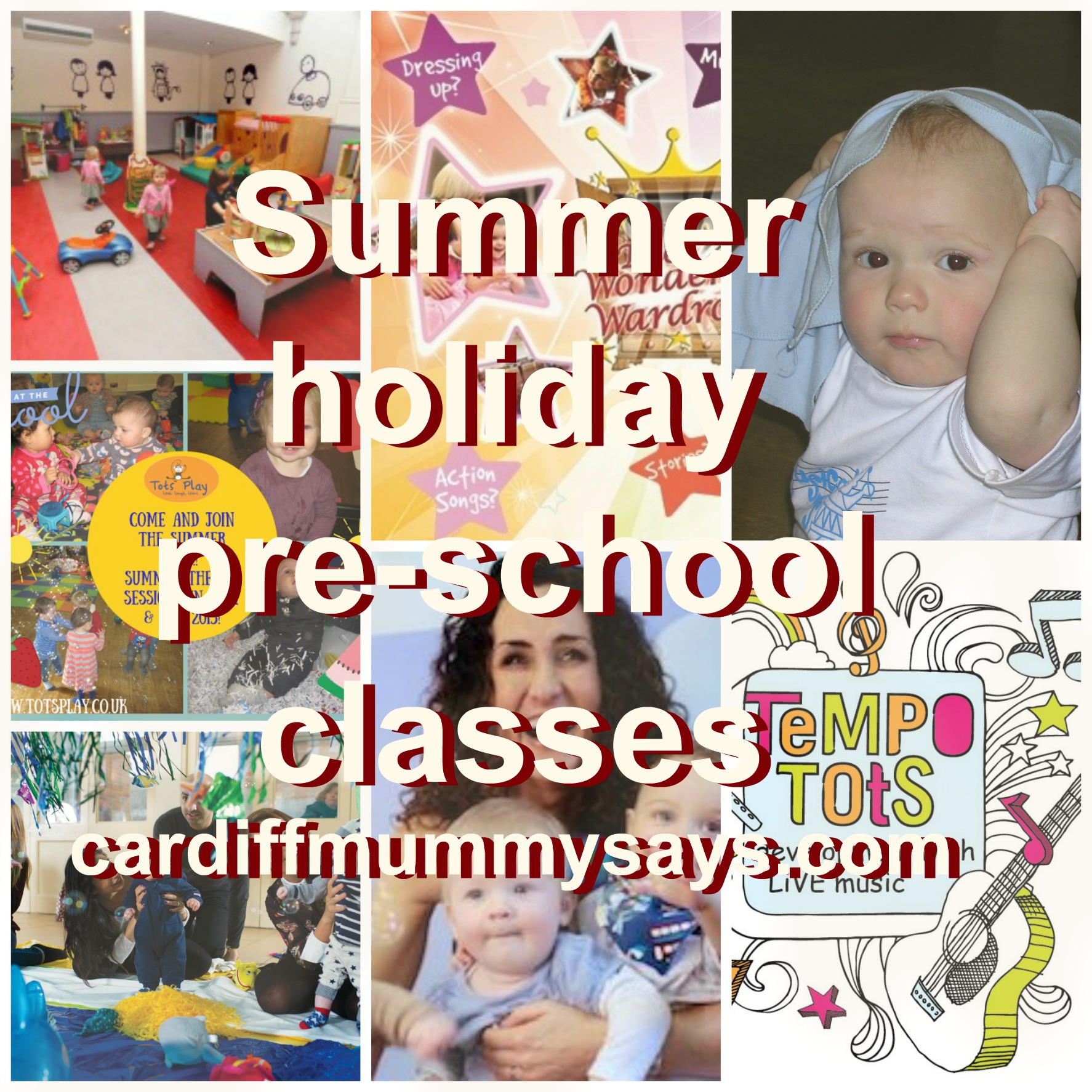 pre school classes with text