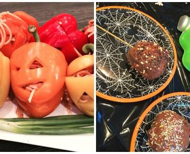 Halloween food collage