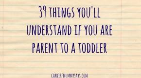 parent to a toddler
