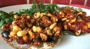 15112015 Portobello mushrooms stuffed with blog caption