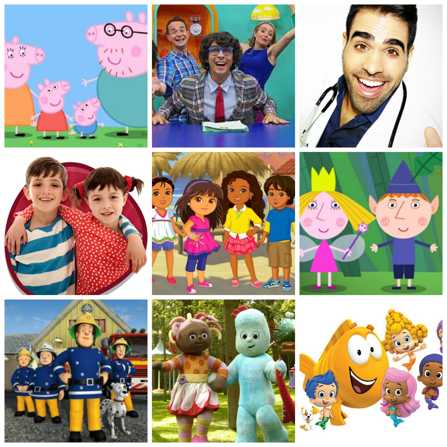 Children's TV montage