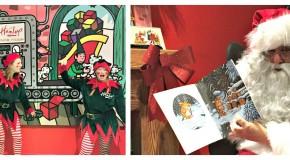 Father Christmas at Hamleys photo collage