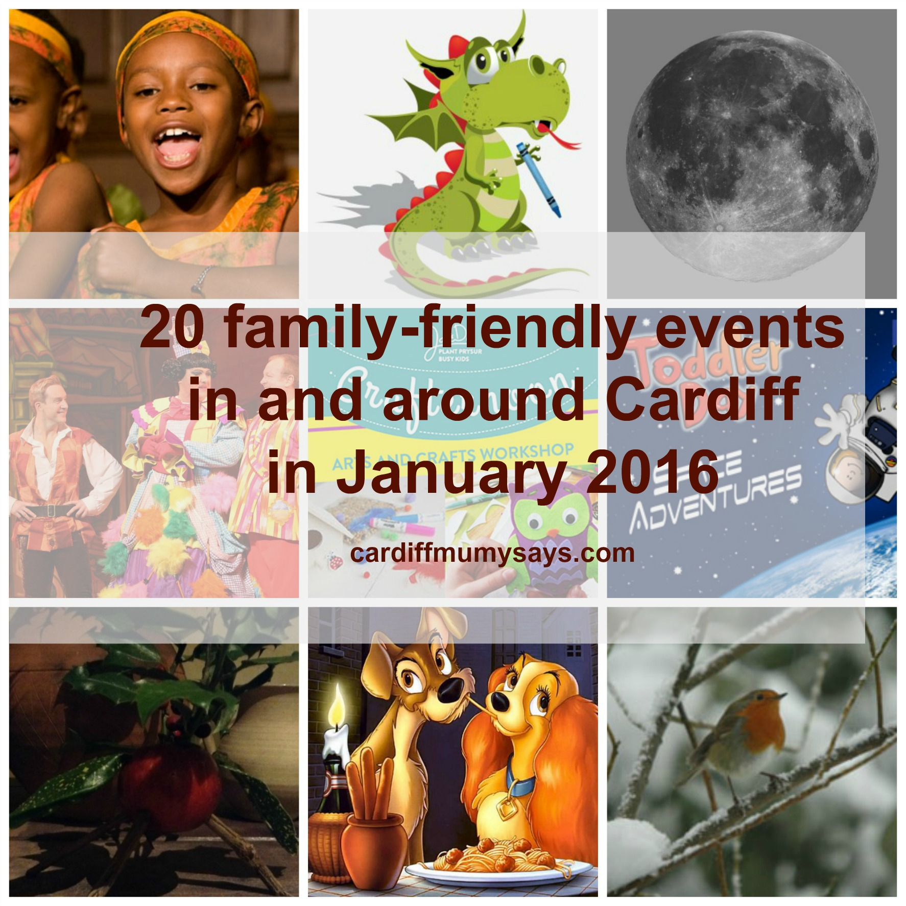 Cardiff Mumy Says January 2016 events with text