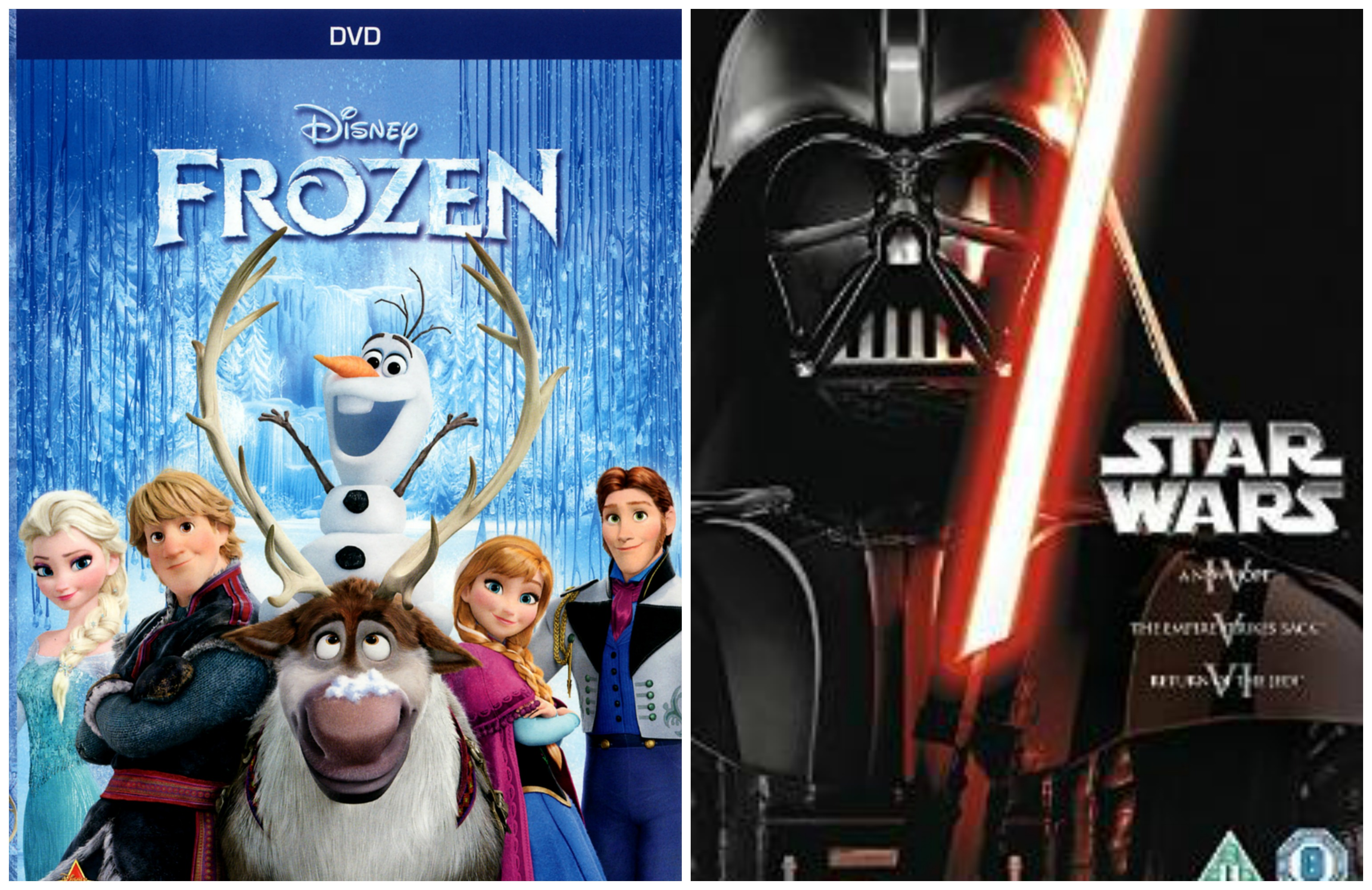 Frozen and Star Wars collage