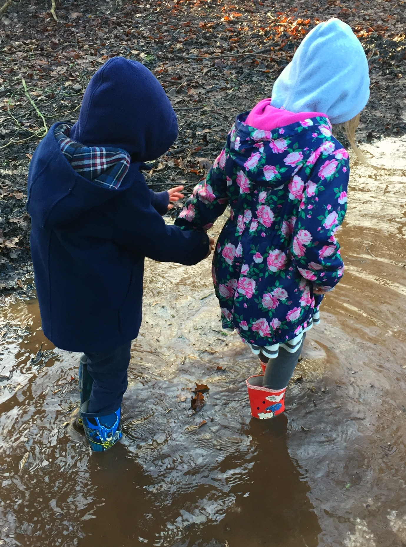 Girls love mud