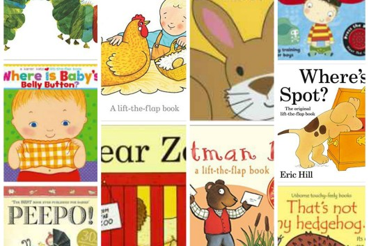 Interactive toddler books collage