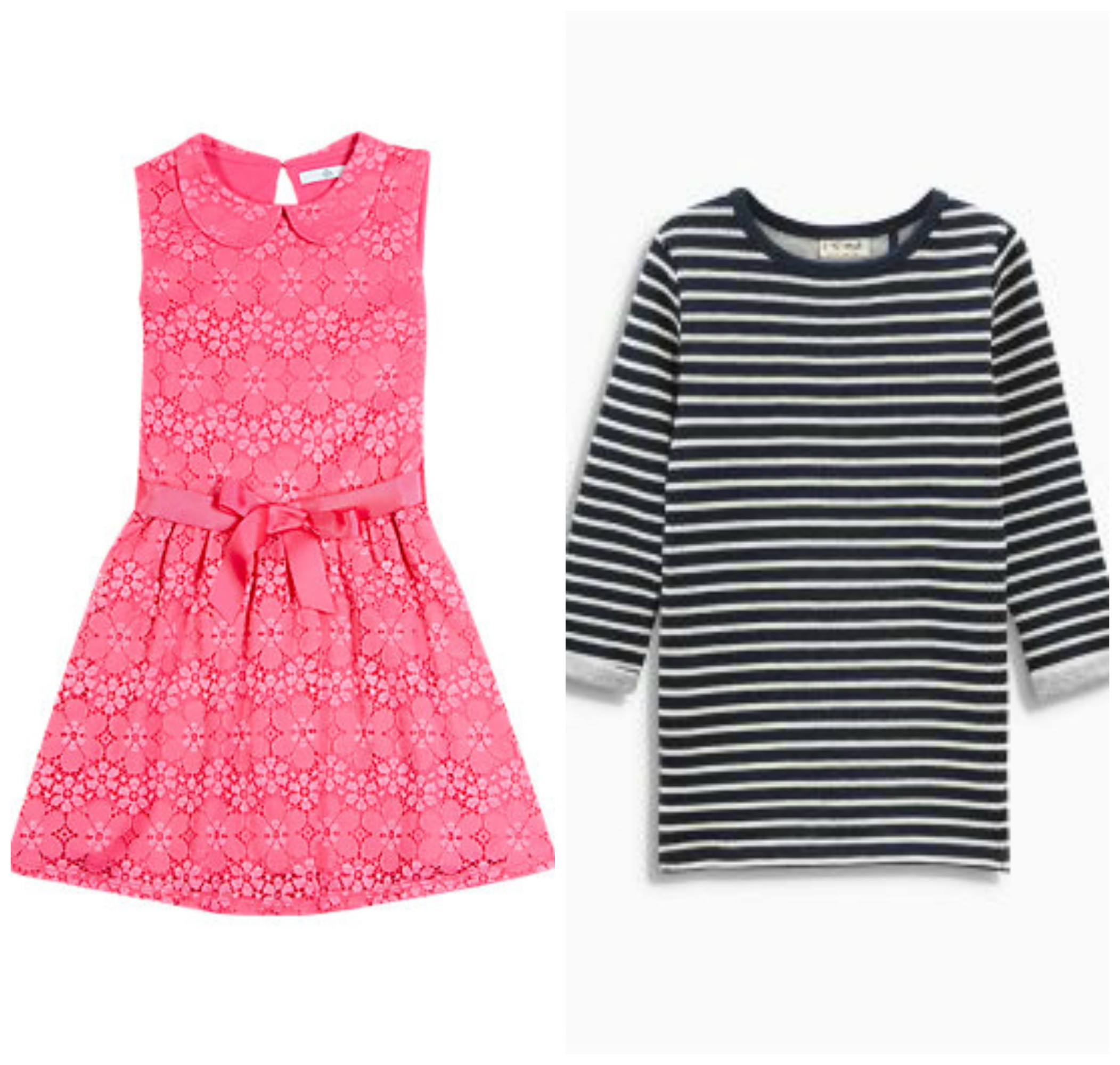 Pink and blue girls clothes montage