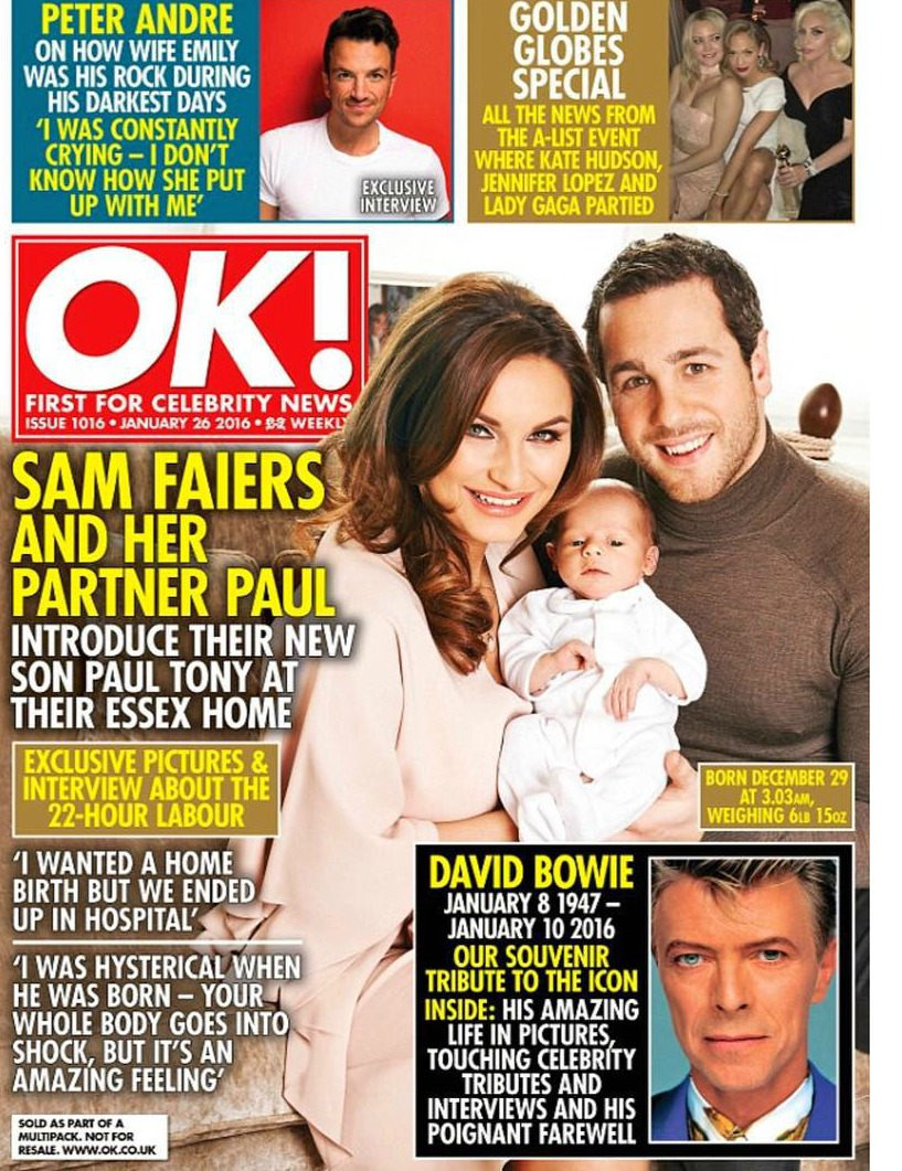 Sam Faiers Baby Name OK cover