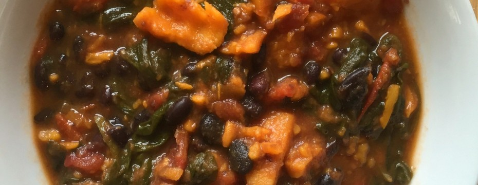 sweet potato and black bean stew