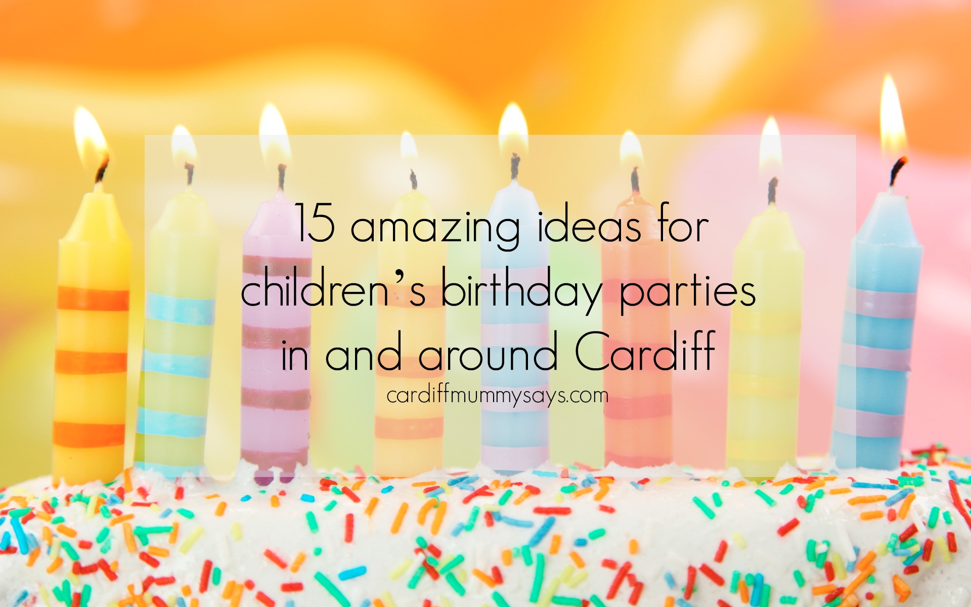 Birthday party image with text