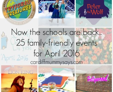 Events April 2016 with text collage
