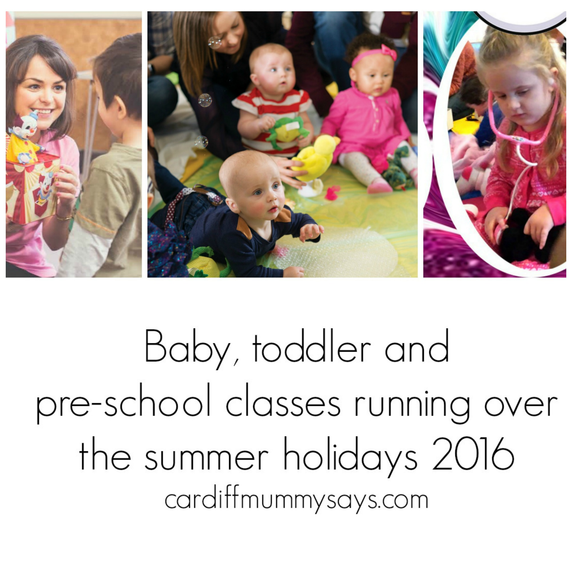 Preschool classes summer 2016 collage