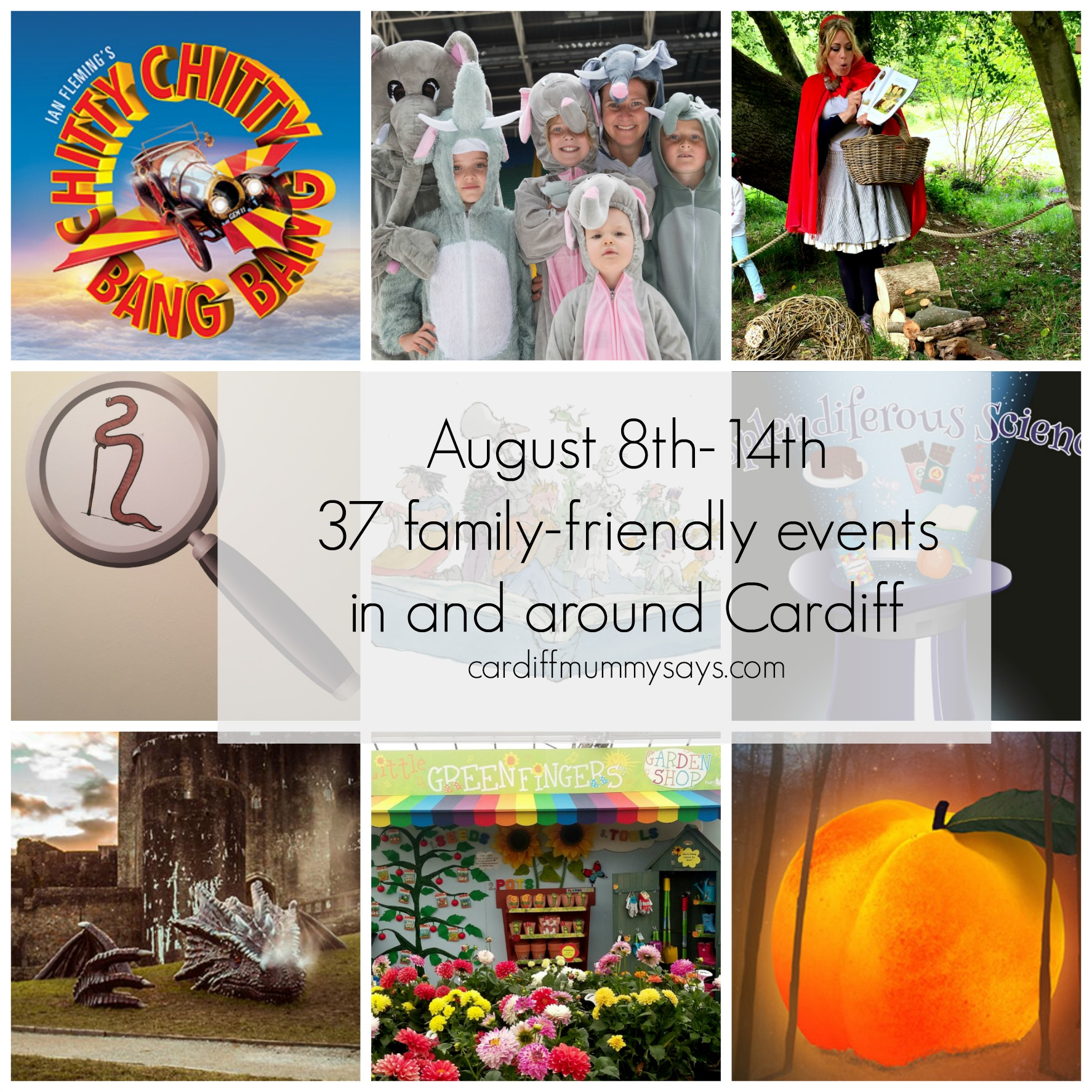 08 08 2016 Family Friendly Events collage with text