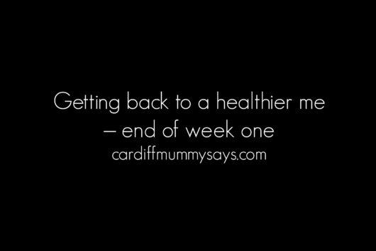 10 10 2016 healthier me end of week one