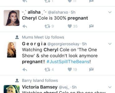 Cheryl pregnant tweets