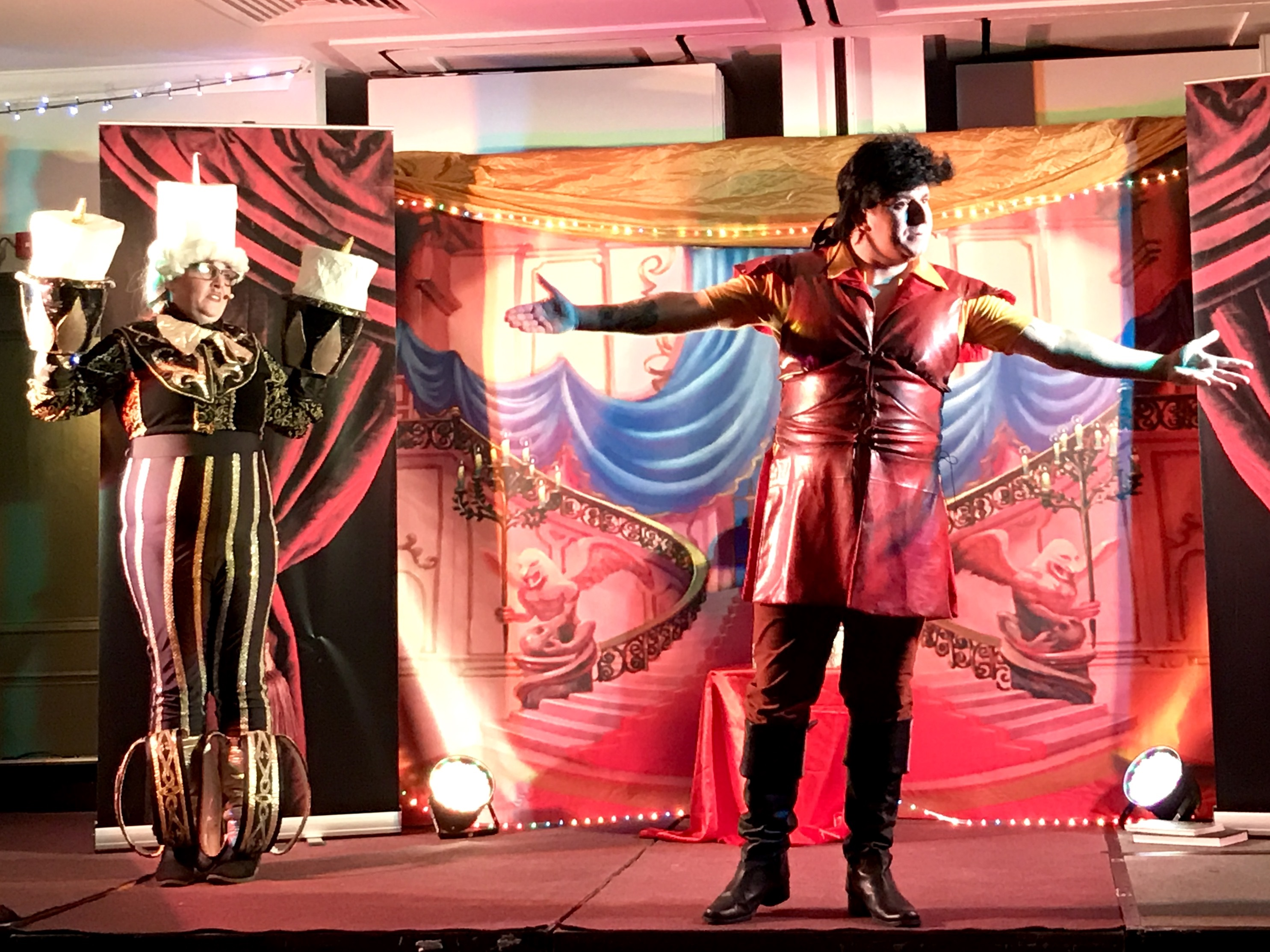 Beauty and the Beast family pantomime lunch at the Village Hotel Cardiff