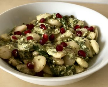warming pesto butter beans