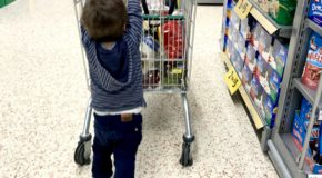Supermarket shopping with kids