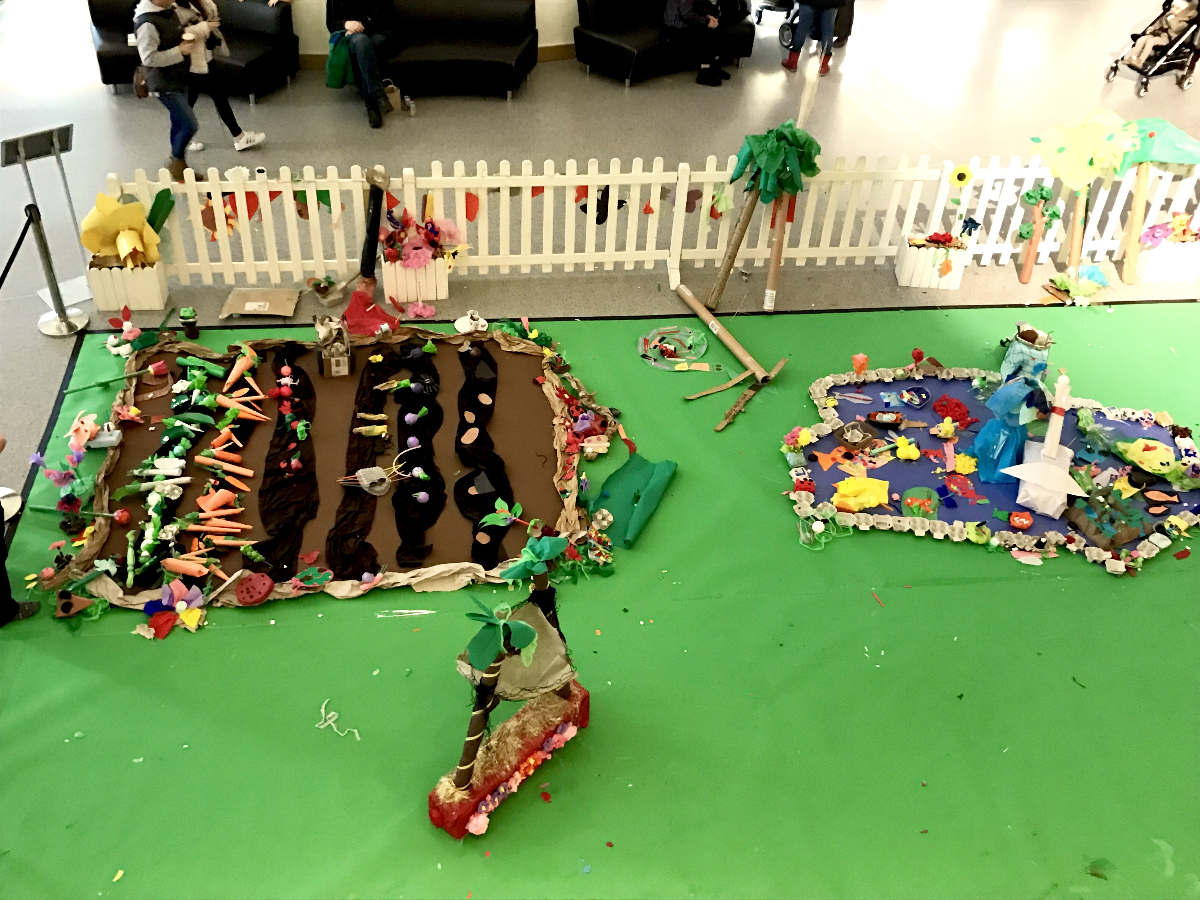 Create a paper garden Wales Millennium Centre