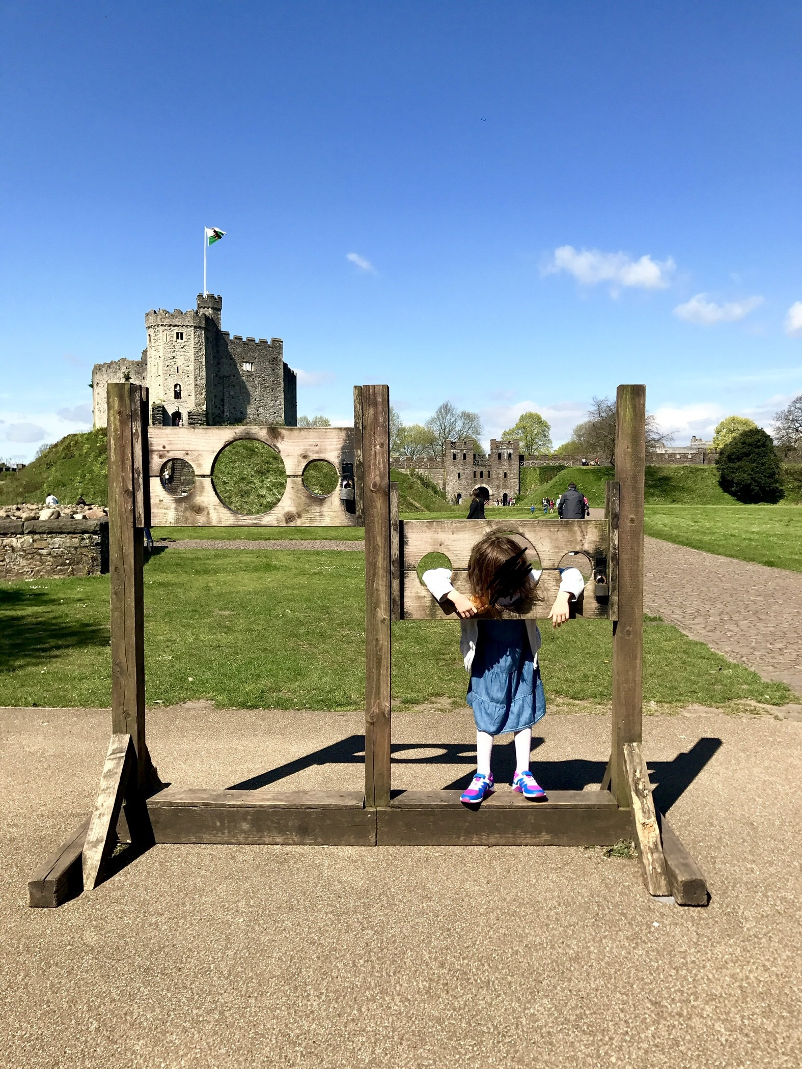 Cardiff Castle stocks