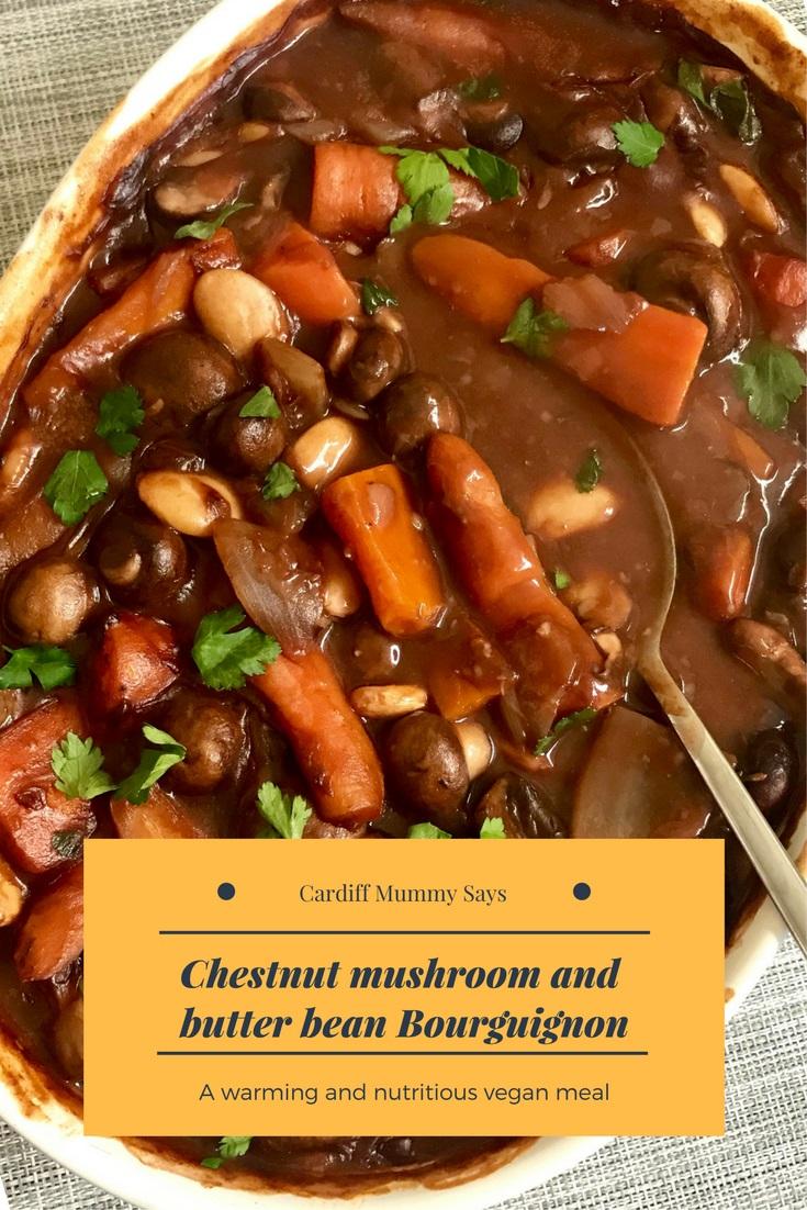 Chestnut Mushroom and Butter Bean Bourguignon