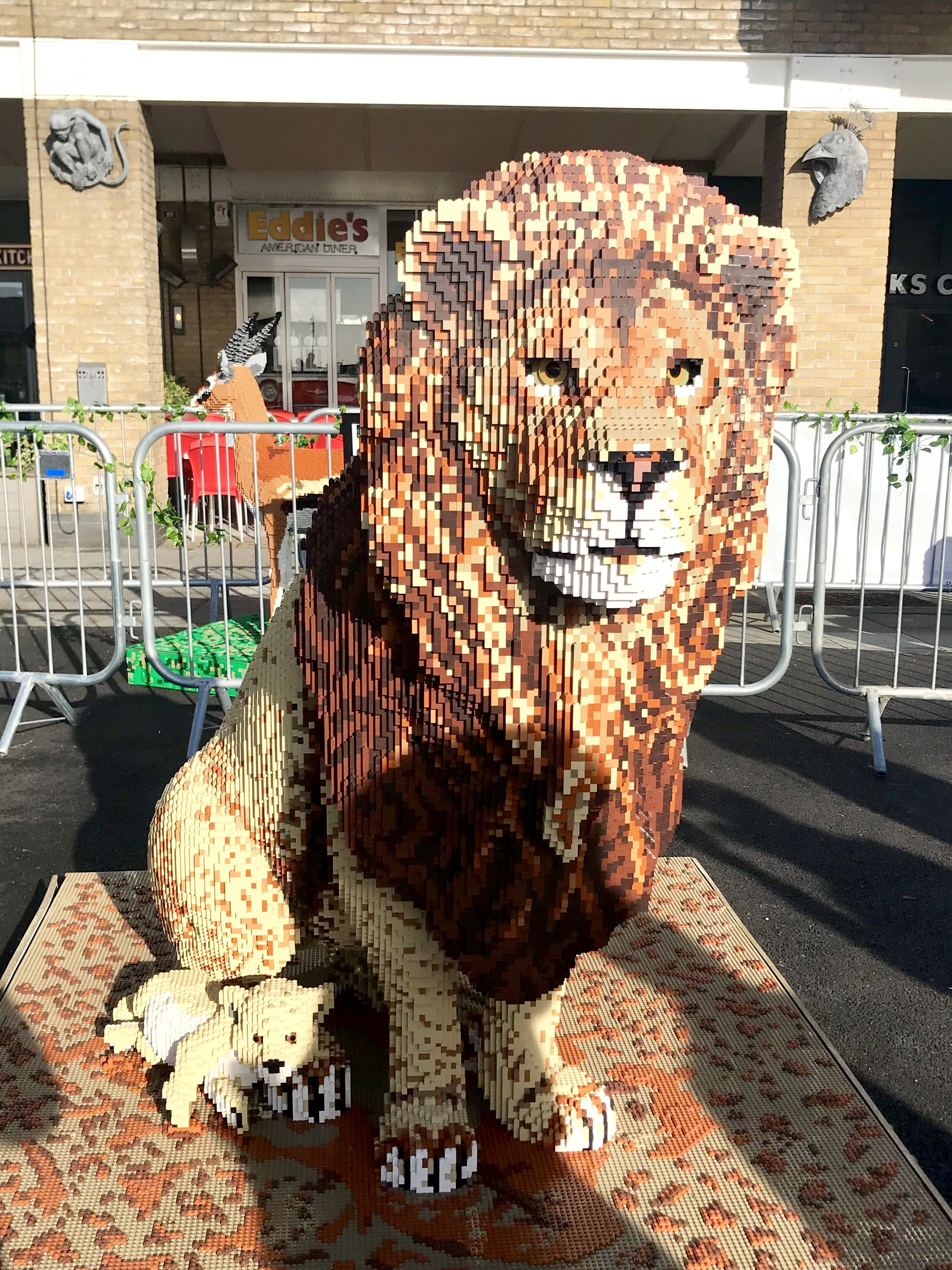 Great Brick Safari Lego Animals Mermaid Quay Cardiff