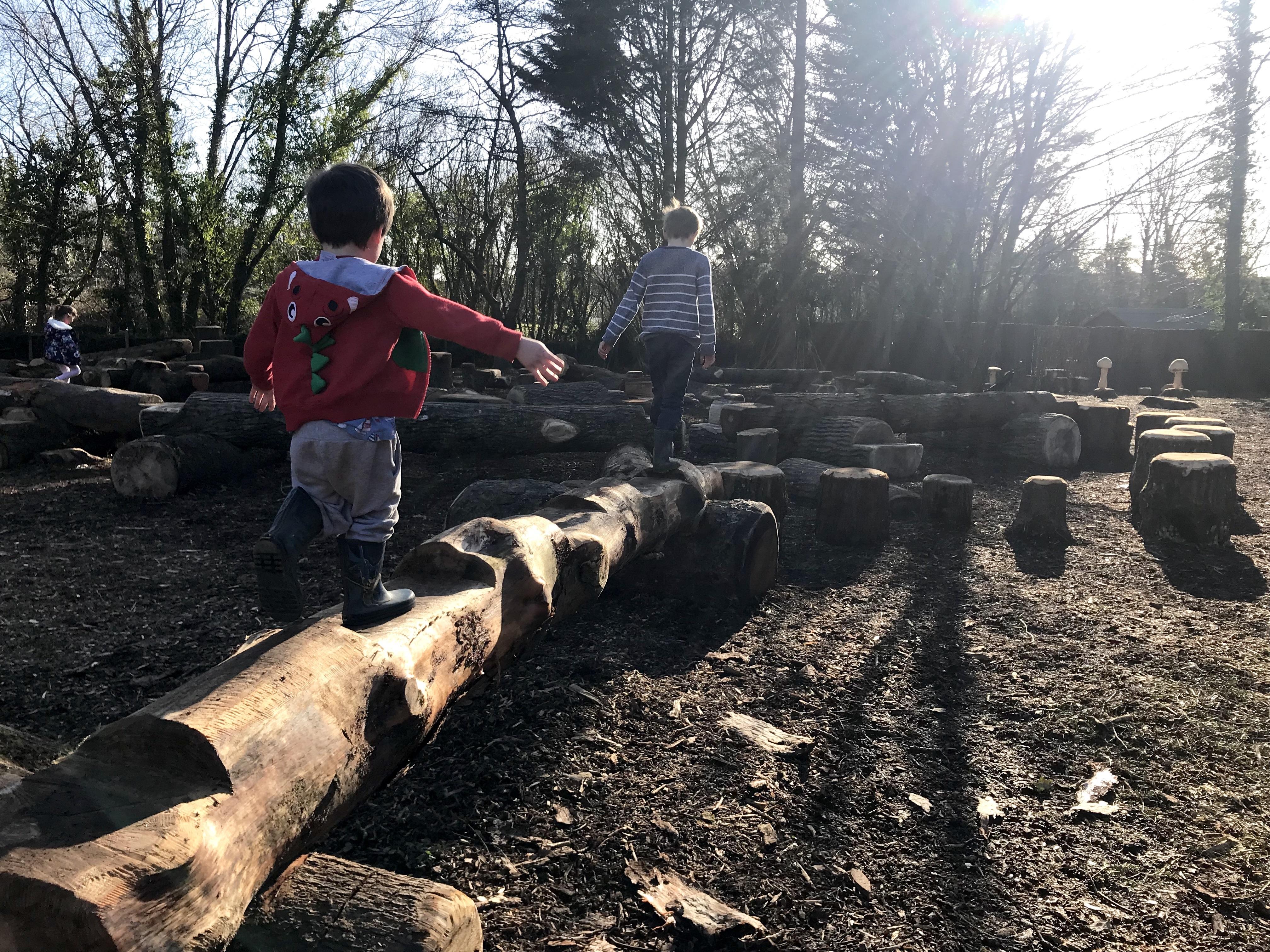 Wild play area Dyffryn Gardens