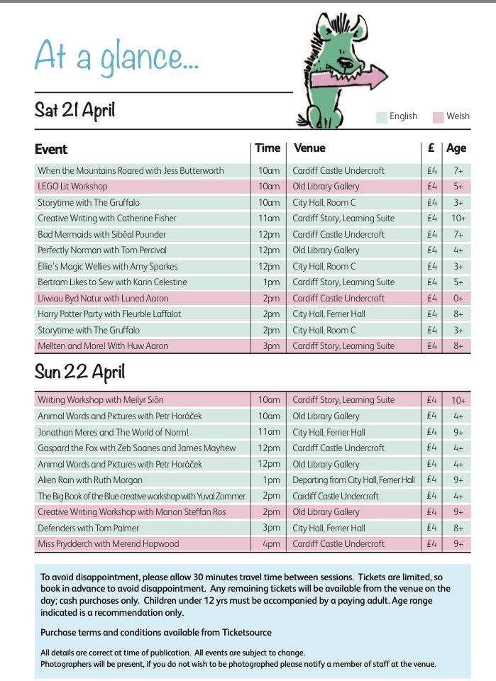 Cardiff Children's Literature Festival 1