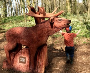 new sculpture trail Fforest Fawr Tongwynlais