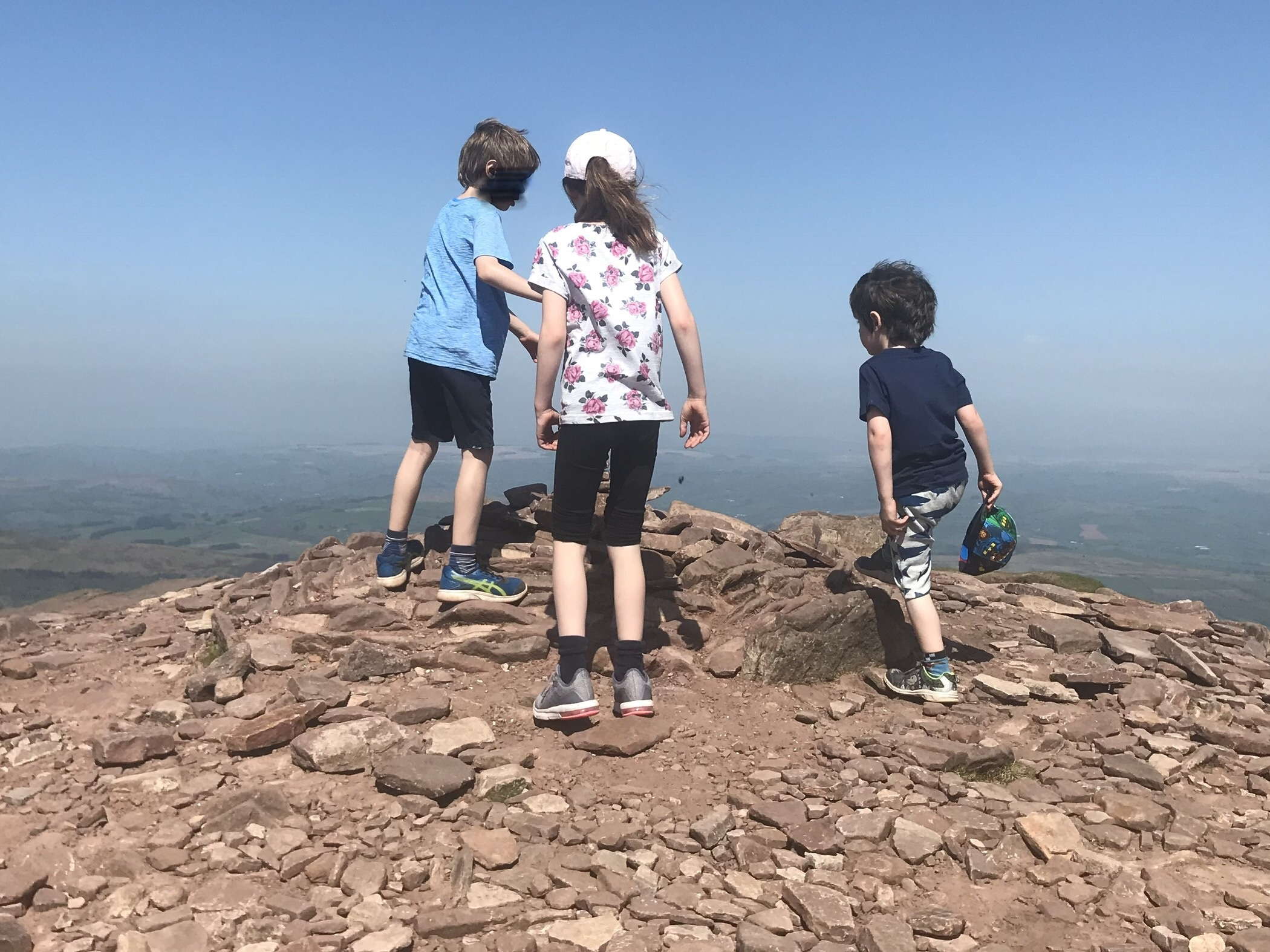 Climbing Pen y Fan with children