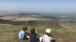 Climbing Pen y Fan with children