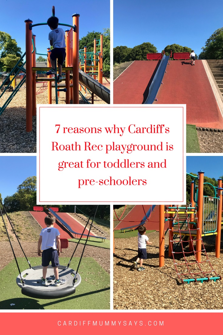 7 reasons why Roath Rec playground is great for toddlers and pre-schoolers