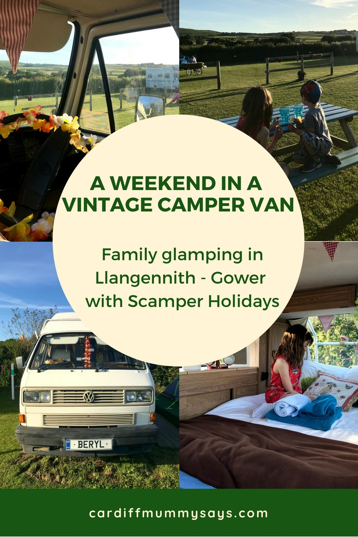 Family glamping Scamper Holidays Gower