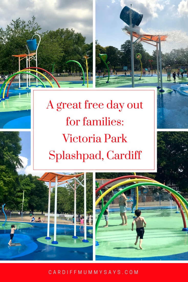 Waterplay at Victoria Park splashpad, Cardiff