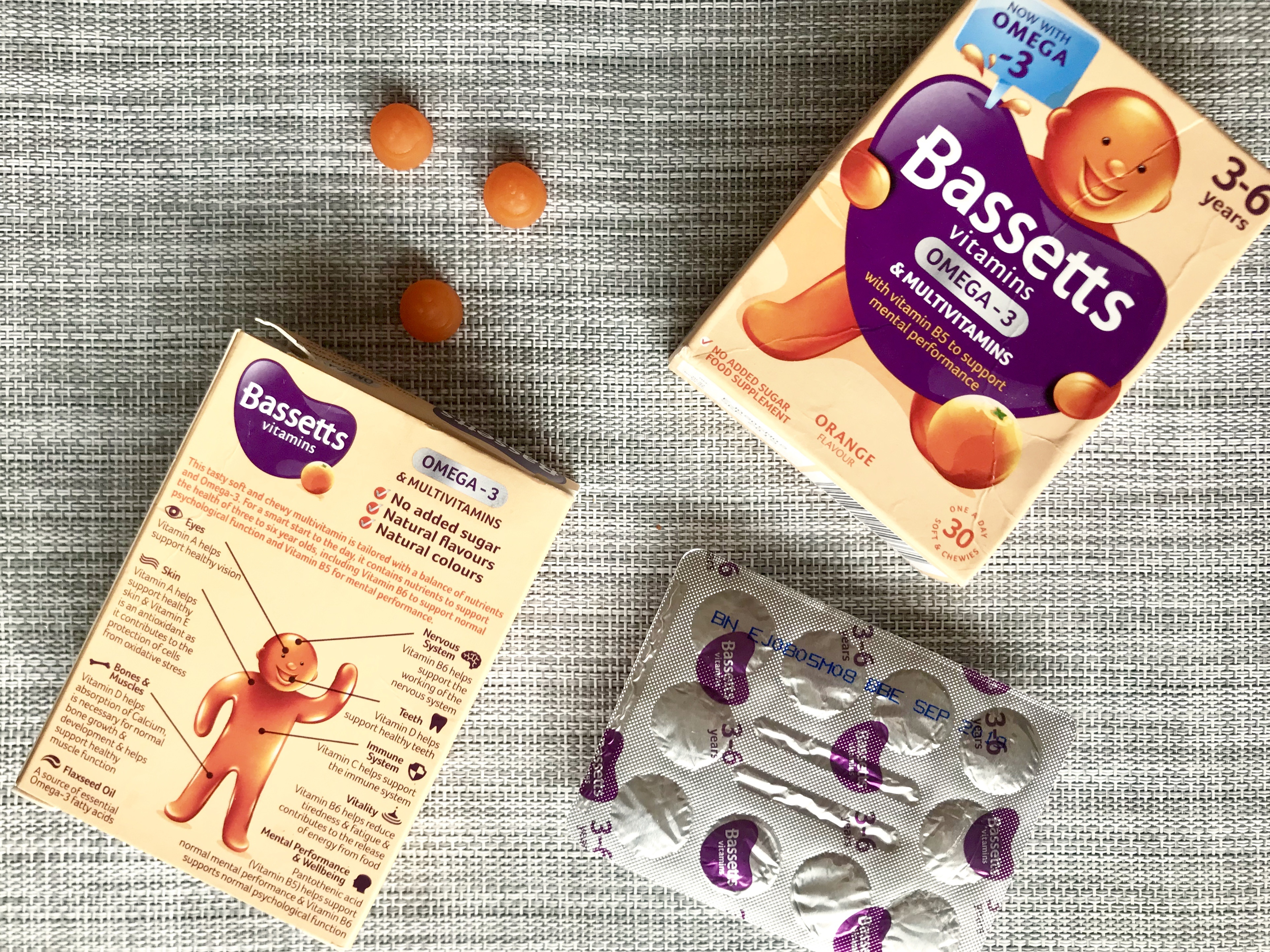 Six healthy steps to start the day – with Bassetts Vitamins Omega-3 + Multivitamins Orange Flavour Pastilles