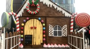 Giant gingerbread house Cardiff